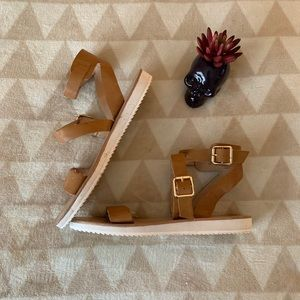 MOSSIMO Ankle Strap Double Buckle Sandals